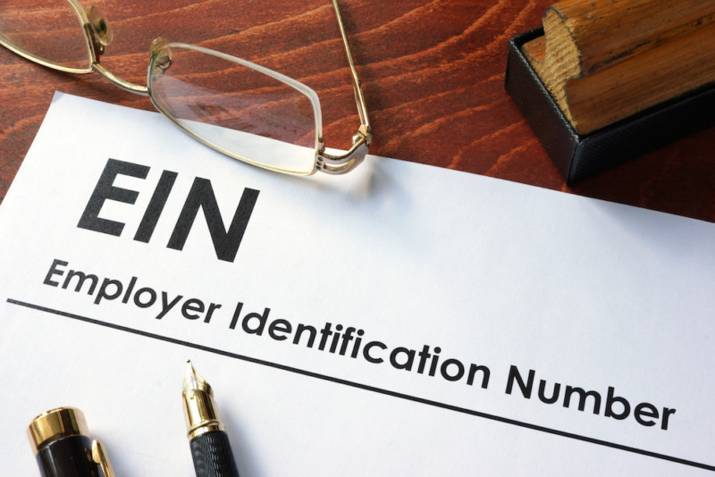 written form for EIN application